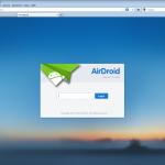 AirDroid kann man im Browser öffnen