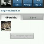 Screenshot der Instagramm App im Reiter Profil