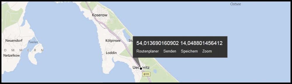 Usedom auf der Karte