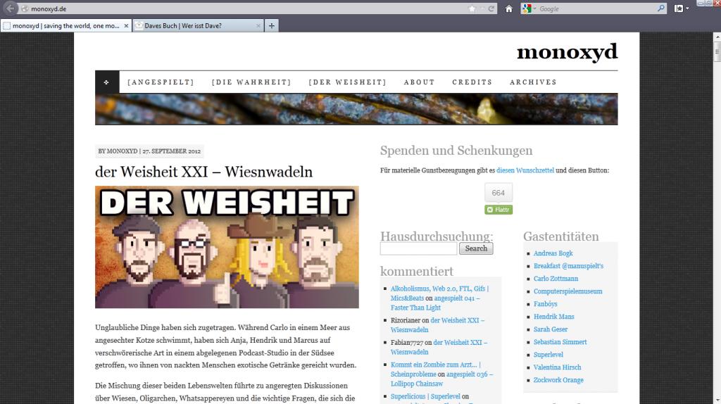 Die Homepage von Marcus Richter