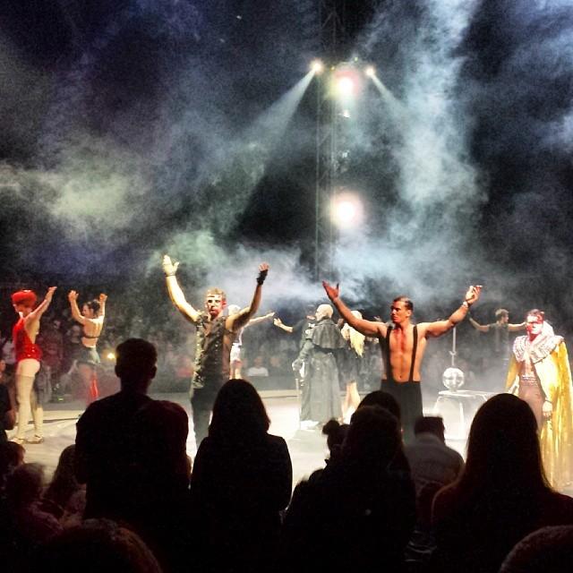 Ein töffter Abend im #ZirkusdesHorrors mit #Freunden viel #Spaß und #Grusel #gruselig #Zirkus #Horror #Freakshow #Finale #circus