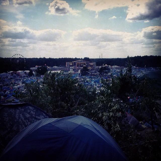 Ein #super #Ausblick auf das #Festivalgelände