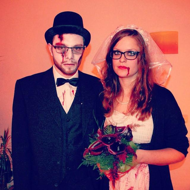 Das tote Brautpaar.