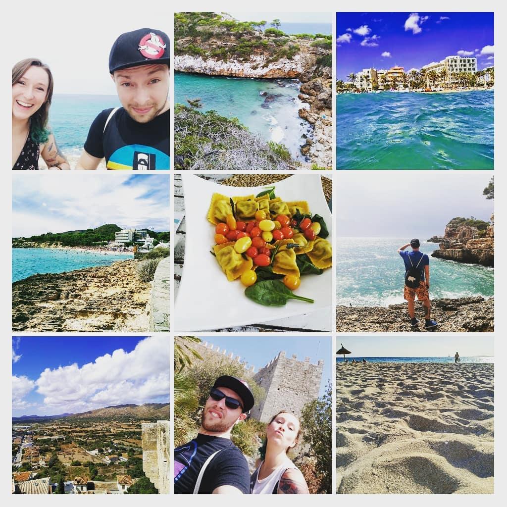 #Sommer, #Palmen, #Sonnenschein, was kann schöner sein? . . . . . Ich geh mit dem #Walkman an den #Strand Und leg mich mit Popmusik in den #Sand Nur ins #Wasser geh ich nicht Denn das Wasser ist nicht #wasserdicht . . #Mallorca #majorca #calaratjada #urlaub